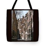 Old City Street Scene In London Tote Bag