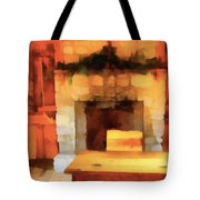 Old Classroom And Desk Tote Bag