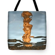 Old Clock Tower Of The Post Office Building Tote Bag