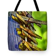Old Clothes Pins II - Digital Paint Tote Bag