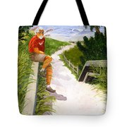 Old Codger On Beach Tote Bag