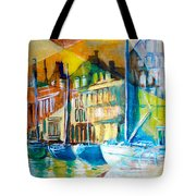Old Copenhagen Thru Stained Glass Tote Bag