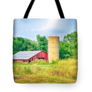 Old Country Farm And Barn Tote Bag