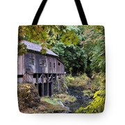 Old Creek Grist Mill In Autumn Tote Bag