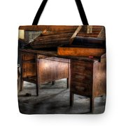 Old Desk In The Attic Tote Bag