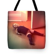 Old Doll On Floor Tote Bag