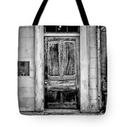 Old Door - Bw Tote Bag