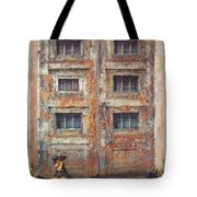 Old Door - Aged - Cracked - Abandoned Tote Bag