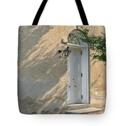 Old Door And Stucco Wall Tote Bag