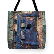 Old Door At Abandoned Prison Tote Bag