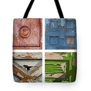 Old Door Panels Tote Bag