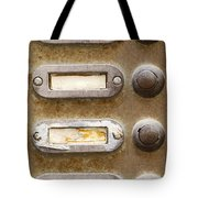Old Doorbells Tote Bag