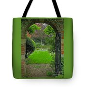 Old English Garden Tote Bag