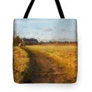 Old English Landscape Tote Bag by Pixel Chimp