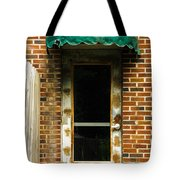 Old Factory Entrance Tote Bag