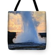 Old Faithful At Sunrise Tote Bag