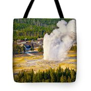 Old Faithful From Observation Point Tote Bag