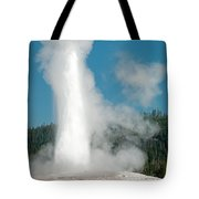 Old Faithful In Upper Geyser Basin Inyellowstone National Park Tote Bag