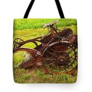 Old Farm Equipment Hardin Montana Tote Bag