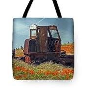 Old Farm Equipment Tote Bag