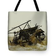 Old Farm Equipment Northwest North Dakota Tote Bag by Jeff Swan