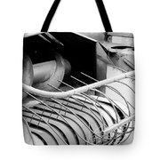 Old Farm Harvester Tote Bag by Jackie Farnsworth