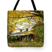Old Farm House Behind Color Tote Bag