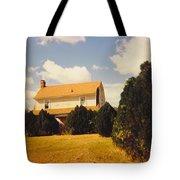 Old Farmhouse Landscape Tote Bag