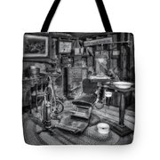 Old Fashioned Dentist Office Bw Tote Bag