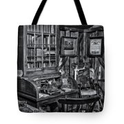 Old Fashioned Doctor's Office Bw Tote Bag