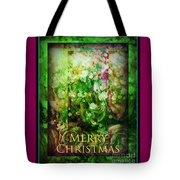 Old Fashioned Merry Christmas - Roses And Babys Breath - Holiday And Christmas Card Tote Bag