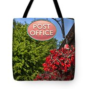 Old Fashioned Post Office Sign Tote Bag