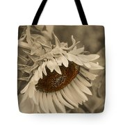 Old Fashioned Sunflower Tote Bag