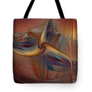 Old-fashionened Swing Boat In The Afterglow Tote Bag