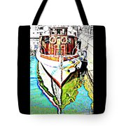 We Will Soon Go Away With The Old Ferry  Tote Bag by Hilde Widerberg