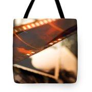 Old Film Strip And Photos Background Tote Bag by Michal Bednarek