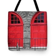 Old Fire Hall Doors Tote Bag