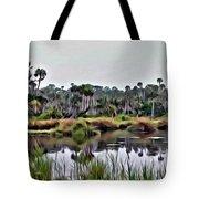 Old Florida Waterway Tote Bag