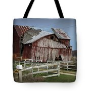 Old Forlorn Decrepid Wooden Barn Tote Bag