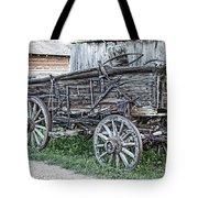 Old Freight Wagon - Montana Territory Tote Bag