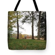 Old Friends On A Bench II Tote Bag
