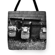 Old Gas Meters Tote Bag