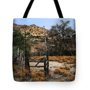Old Gate At Oak Flats Tote Bag