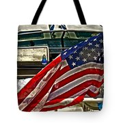 Old Glory And The Bay Tote Bag