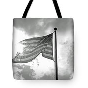 Old Glory Bw Tote Bag