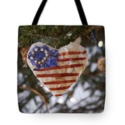 Old Glory Heart Tote Bag