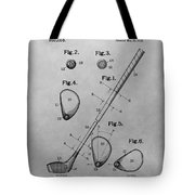Old Golf Club Patent Illustration Tote Bag