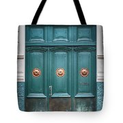 Old Green Door Tote Bag