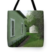 Old Green House Tote Bag