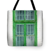 Old Green Wooden Window Tote Bag